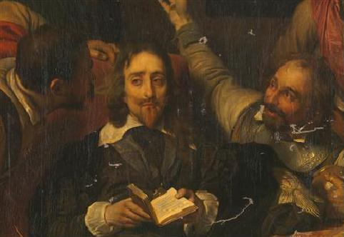 Charles I insulted by Cromwell's guards 1836
