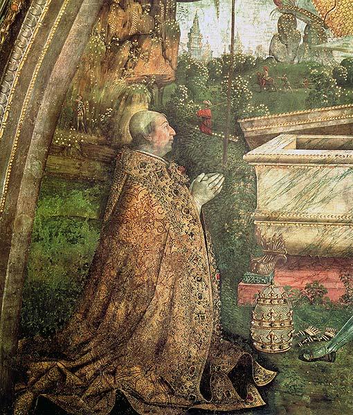 Alexander VI by Pinturicchio, fresco from the Borgia apartment