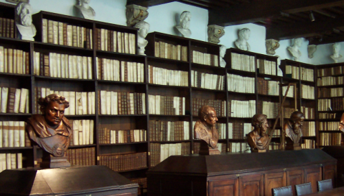 Library at the Plantin Moretus Museum, virtual tour, Museum Monday, social media, museum experience