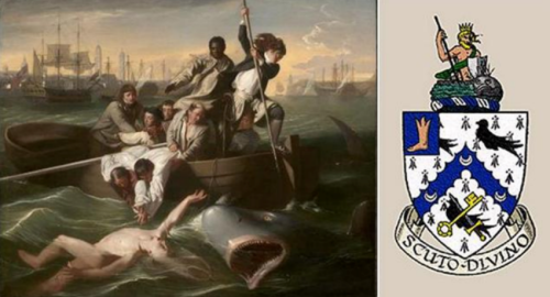 Watson and the Shark, Boston Museum of Fine Arts, coat of arms, history