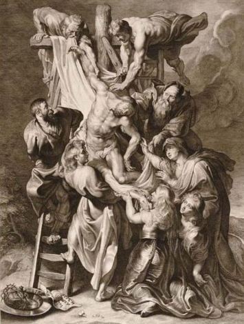 The Deposition, Lucas Vorsteman, 1595-1675, after Peter Paul Rubens, 1577-1640, ca. 1620, Plantin Moretus Museum, Museum Monday, social media, virtual tour, museum experience