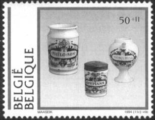 Delft apothecary jars