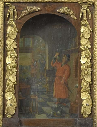 Interior painting detail