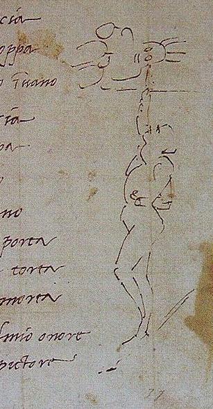 Michelangelos depiction of work accompanying poem