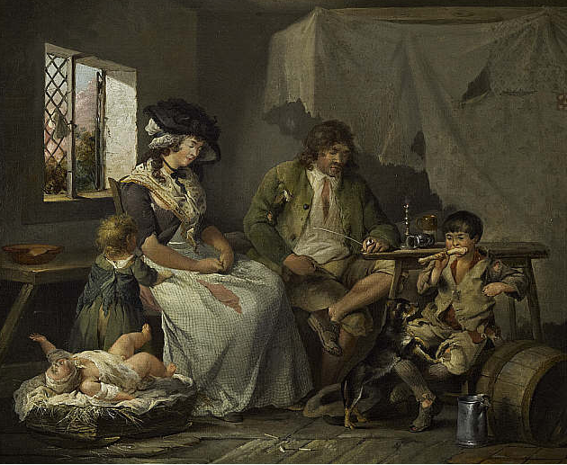 misery of idleness george morland before 1790