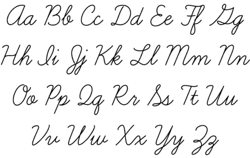 Love Word Cursive on scary fonts generator