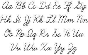 cursive example
