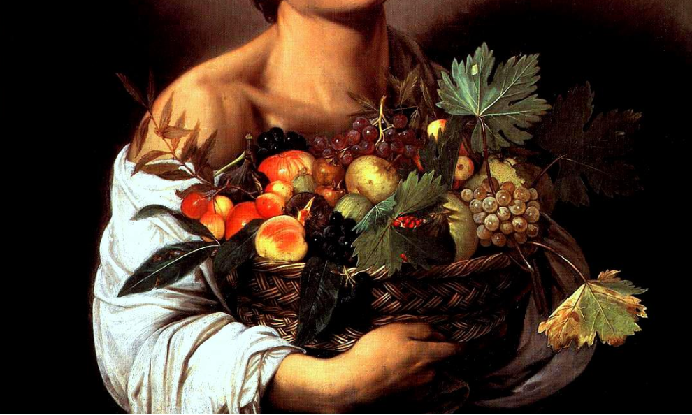 Detail, Boy with a Basket of Fruit, 1593