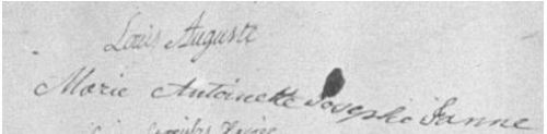 Marie antoinette wedding signature