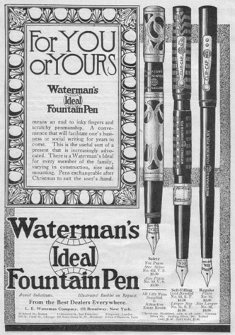 waterman fountain pen ad