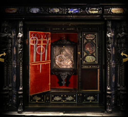 inside the Augsburg cabinet 2