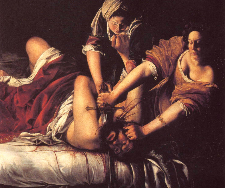Artemisia Gentileschi, Judith Slaying Holofernes, 1620,Galleria degli Uffizi, Florence