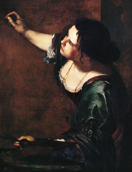 Artemisia-Gentileschi-self-portrait-as-the-Allegory-of-Painting,-1630, -Royal-Collection-