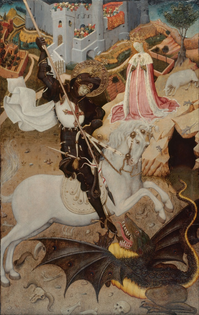 Saint George Killing the Dragon, Bernat Martorell, 1434