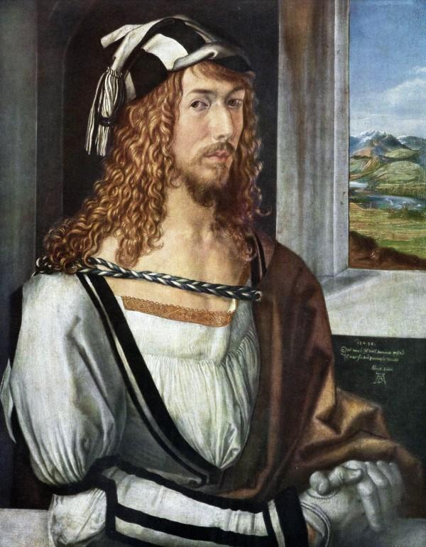 http://en.wikipedia.org/wiki/Self-Portrait_%28D%C3%BCrer,_Munich%29