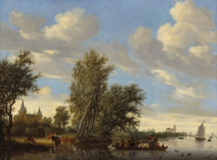 captureriver-landscape-with-ferry-salomon-van-ruysdael