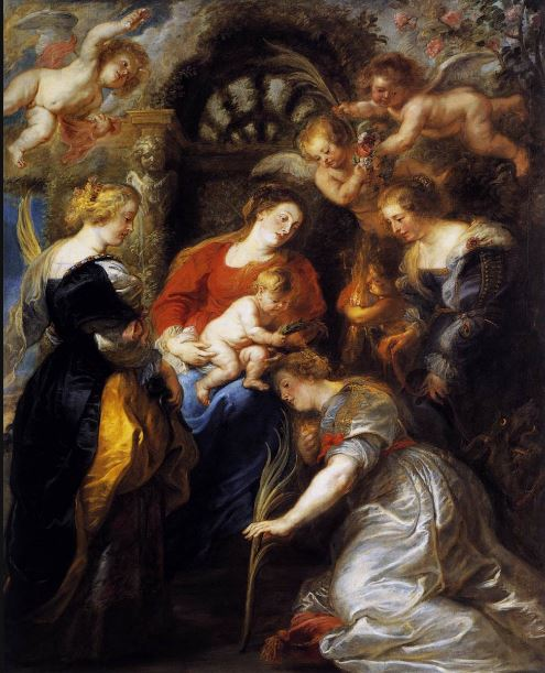 the-crowning-of-saint-catherine-peter-paul-rubens