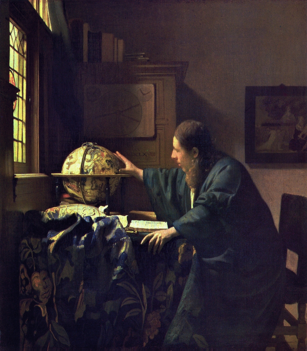 The Astronomer, Johannes Vermeer, 1668, The Lourvre, since 1983