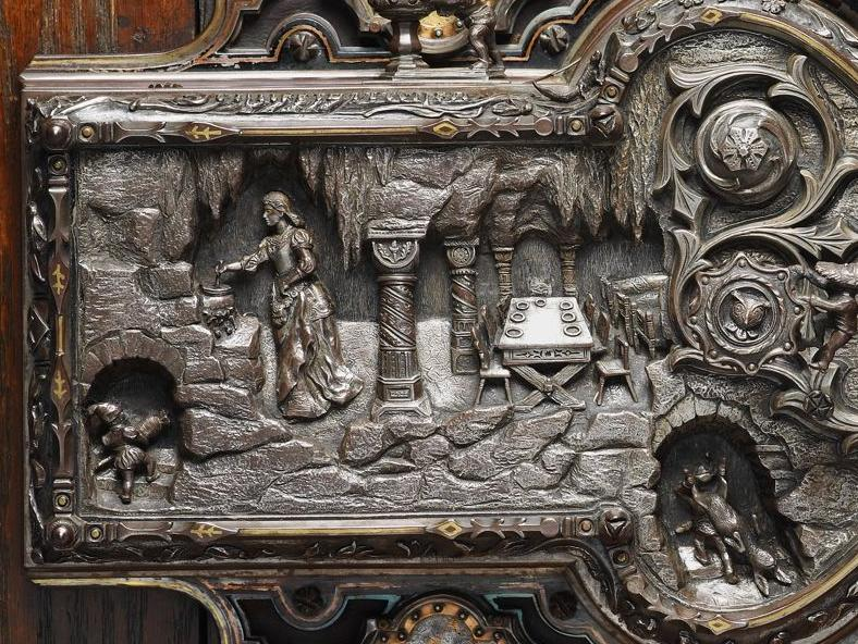 door lock illustrating snow white and the seven dwarfs 1911 frank l koralewsky