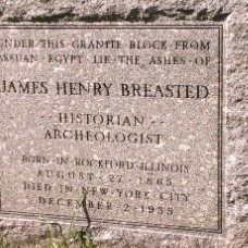 Henry Breasted Headstone from Egypt Author's Own